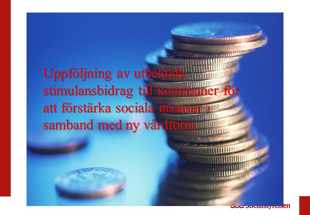 Uppföljning av utbetalda stimulansbidrag till kommuner för att förstärka sociala insatser i samband med ny vårdform