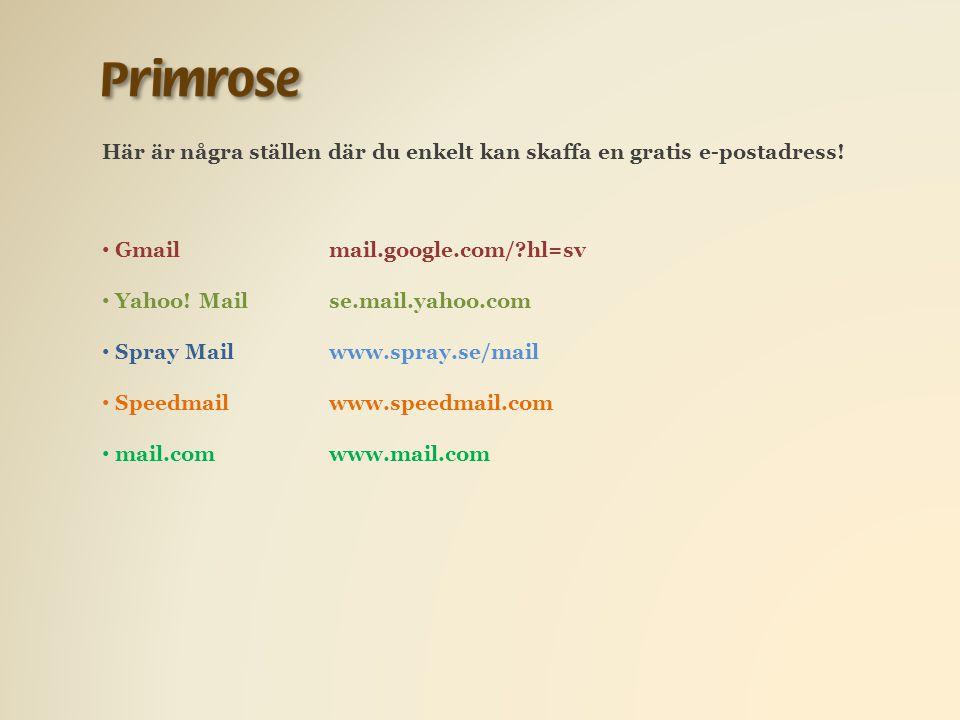 Här är några ställen där du enkelt kan skaffa en gratis e-postadress.