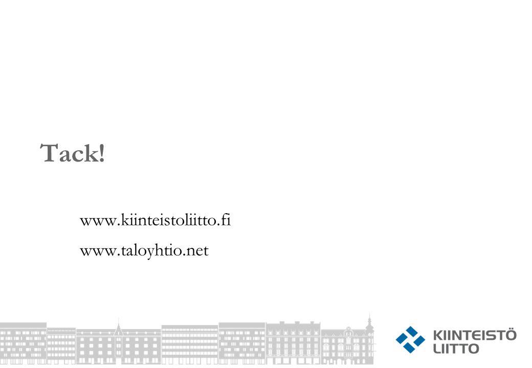Tack! www.kiinteistoliitto.fi www.taloyhtio.net