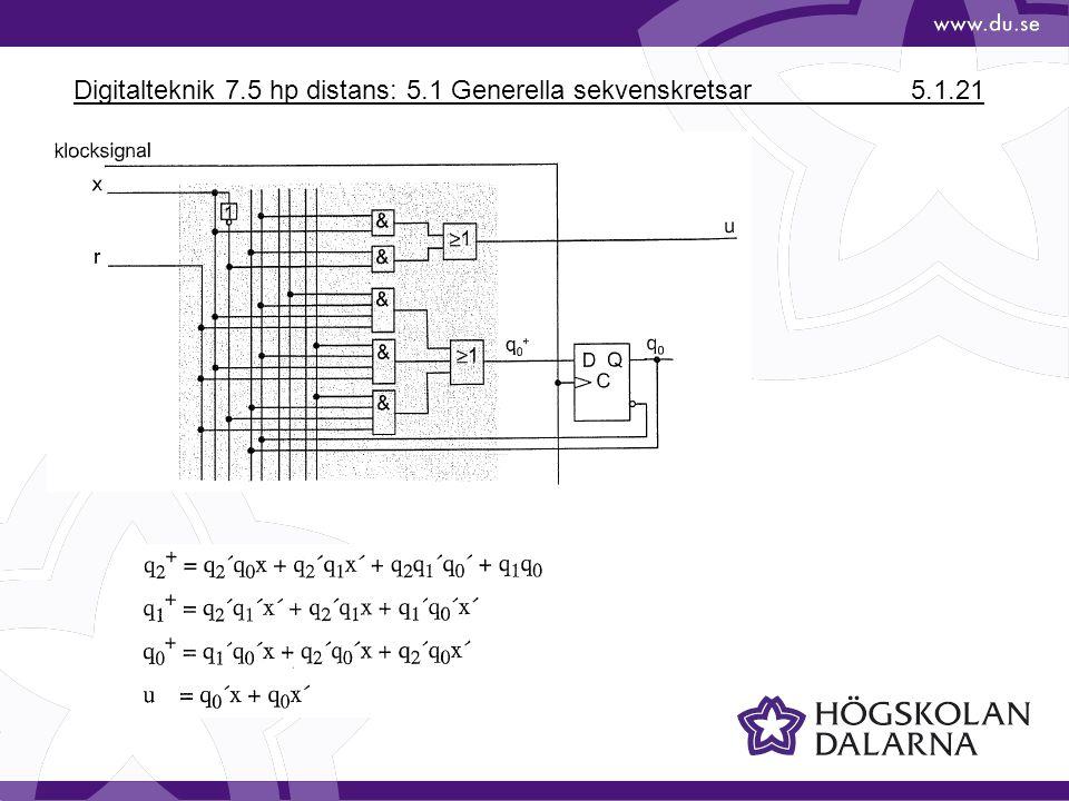 Digitalteknik 7.5 hp distans: 5.1 Generella sekvenskretsar 5.1.21