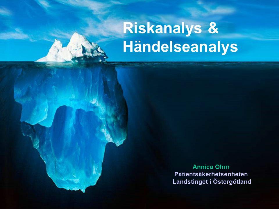 Riskanalyser & Händelseanalyser Vad är det.Varför analyser.