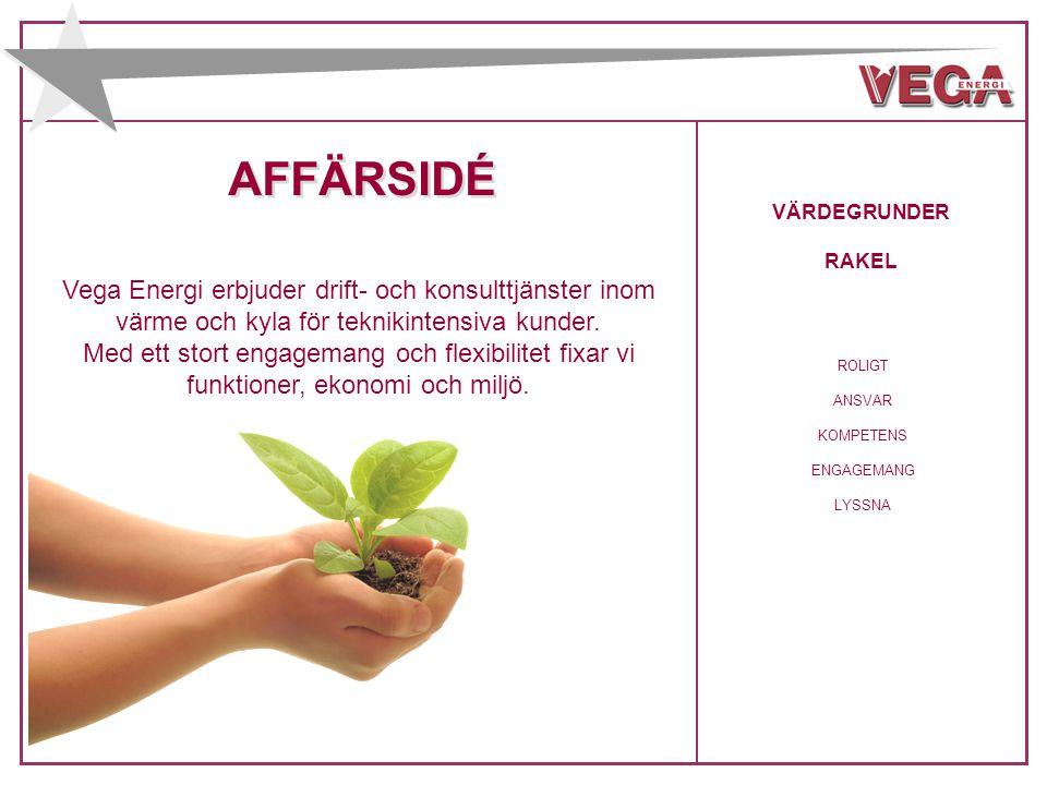 AFFÄRSIDÉ Vega Energi erbjuder drift- och konsulttjänster inom värme och kyla för teknikintensiva kunder. Med ett stort engagemang och flexibilitet fi