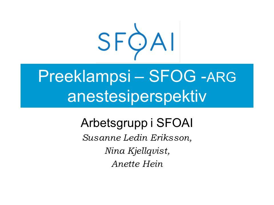 FRÅGA 6 PE – SECTIO I GA Pat med svår preeklampsi anmäls för akut C/S med indikation hotande fosterasfyxi.