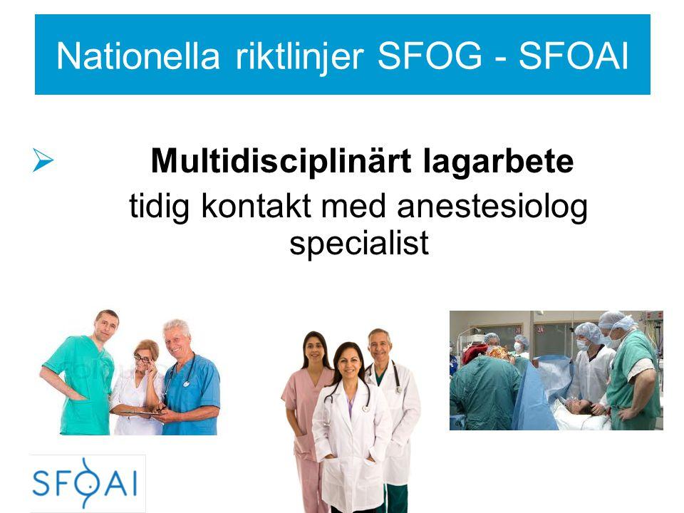 PE-Sectio - Generell anestesi - Reglera blodtrycket före & vid sövning  Labetalol Trandate 10 mg, titrering.