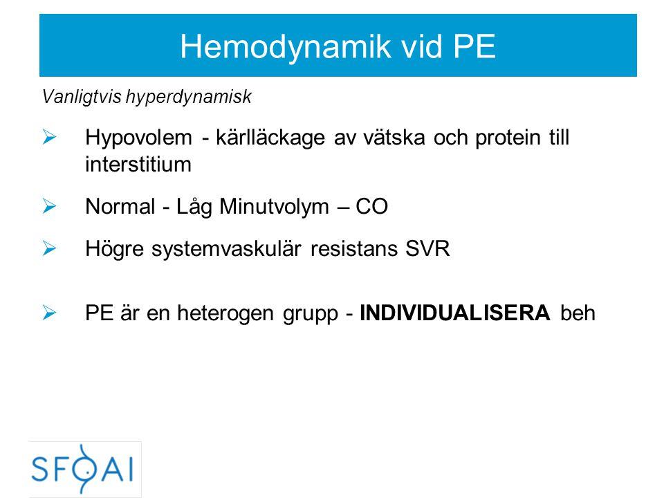 PE-Sectio - Generell anestesi  Uttalad koagulationspåverkan,  Lungödem,  Påverkad medvetandegrad Preoperativ luftvägsbedömning  Larynxsödem - Luftvägsstatus kan försämras under pågående förlossning Anesthesiology 2008;108:357-62  Vid förväntad svår intubation: risk-benefit övervägande Regional Anestesi  Om GA indicerad gör vid förväntad svår intubation vaken fiberoptisk intubation.