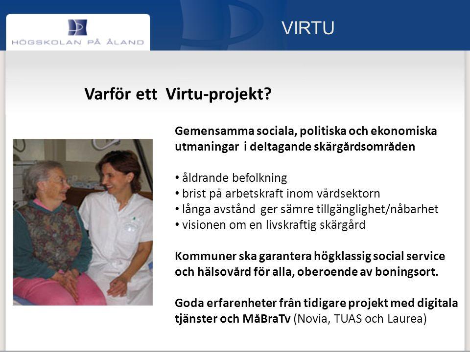 VIRTU Varför ett Virtu-projekt.