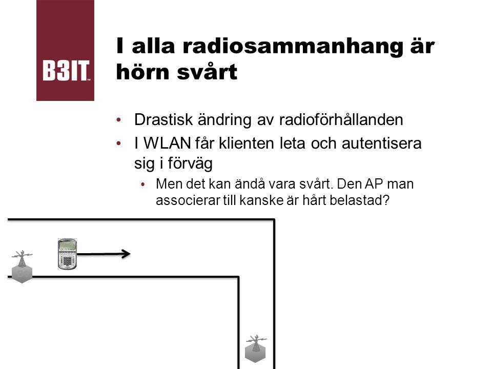 I alla radiosammanhang är hörn svårt Drastisk ändring av radioförhållanden I WLAN får klienten leta och autentisera sig i förväg Men det kan ändå vara