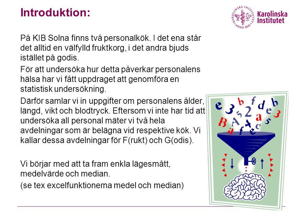 Introduktion: På KIB Solna finns två personalkök. I det ena står det alltid en välfylld fruktkorg, i det andra bjuds istället på godis. För att unders