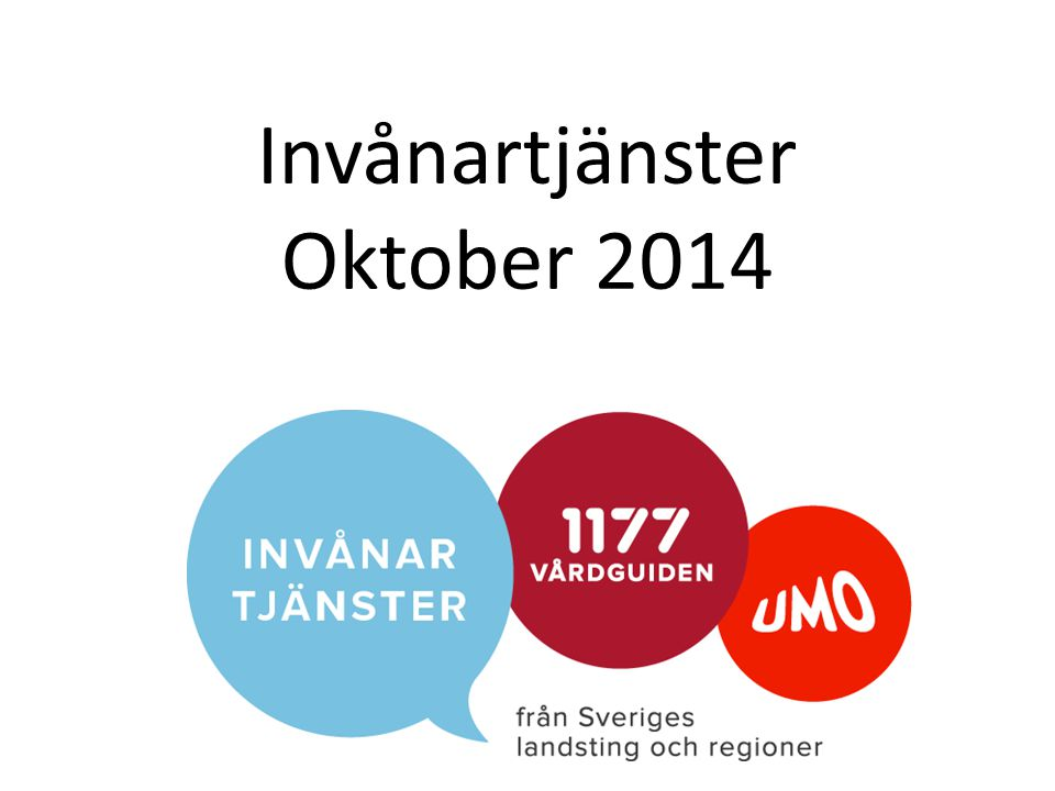 Invånartjänster Oktober 2014
