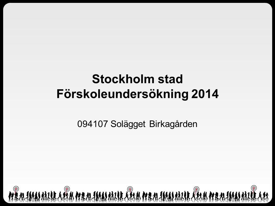 Stockholm stad Förskoleundersökning 2014 094107 Solägget Birkagården