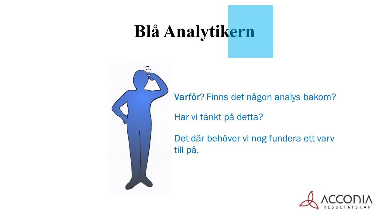 Blå Analytikern Det där behöver vi nog fundera ett varv till på. Har vi tänkt på detta? Varför? Finns det någon analys bakom??