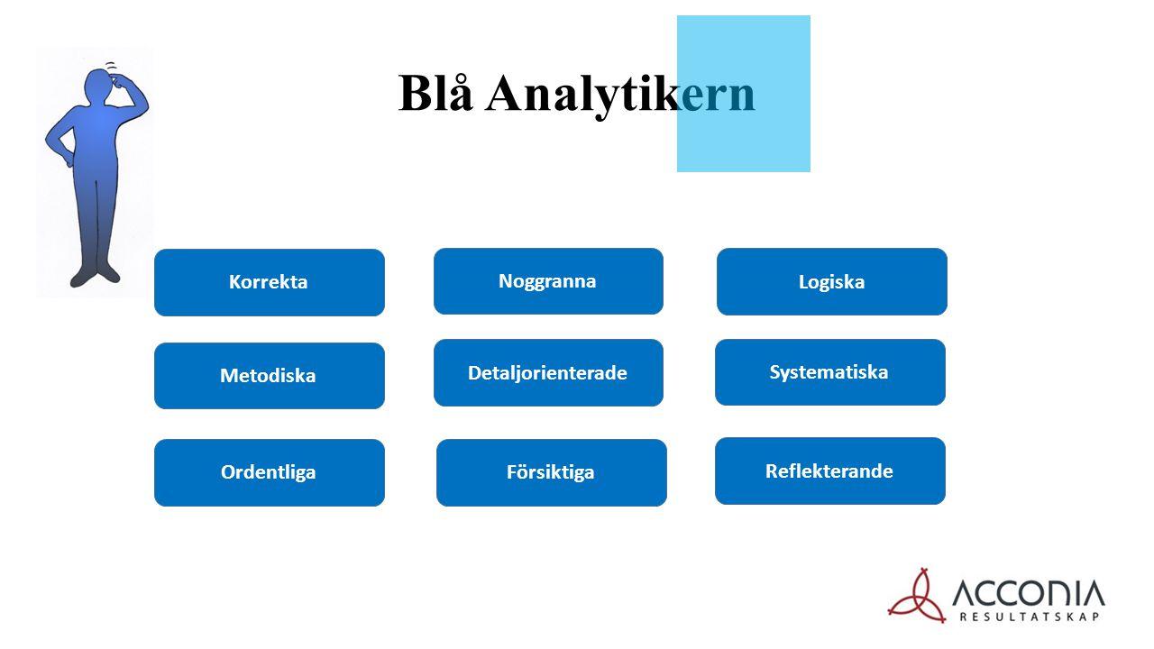 Blå Analytikern Noggranna Korrekta Detaljorienterade Försiktiga Metodiska Ordentliga Reflekterande Systematiska Logiska