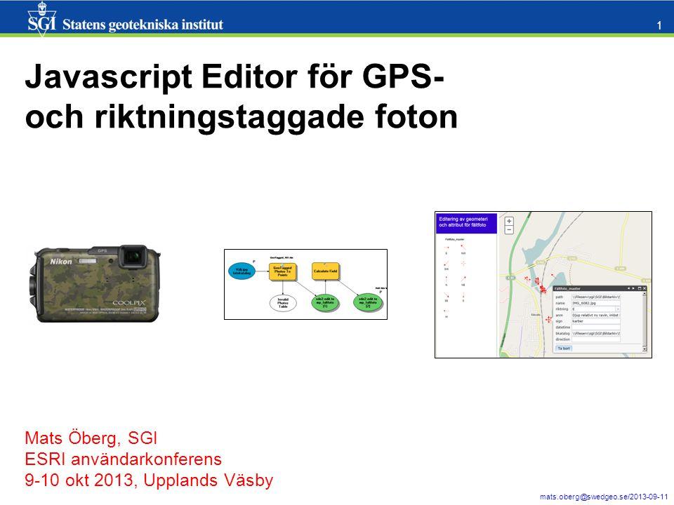 mats.oberg@swedgeo.se/2013-09-11 2 Vad arbetar SGI med.
