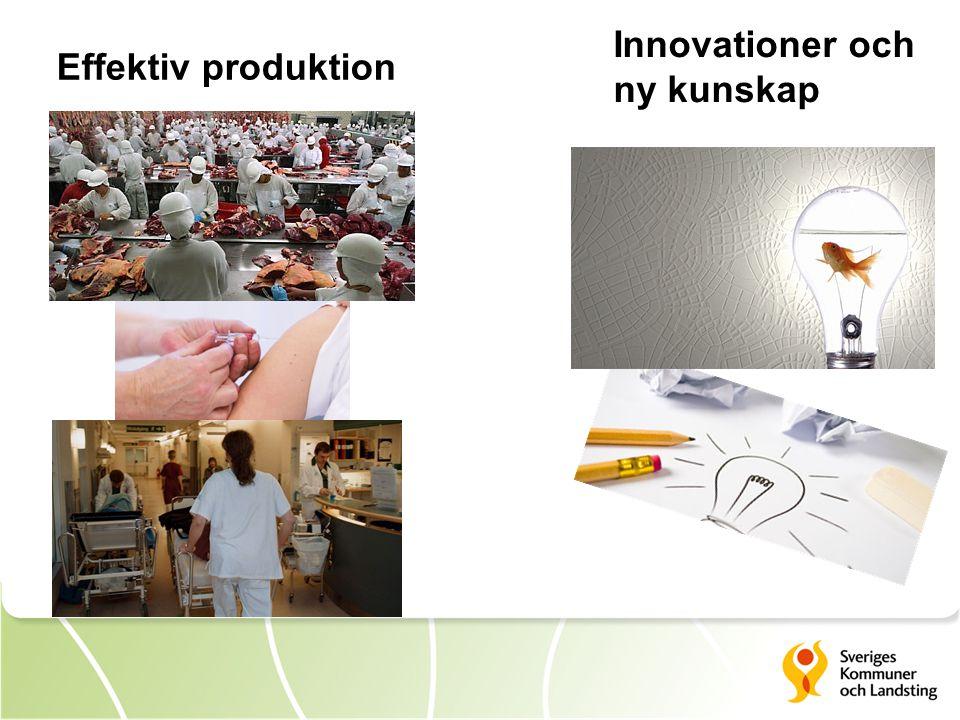 Innovationer och ny kunskap Effektiv produktion