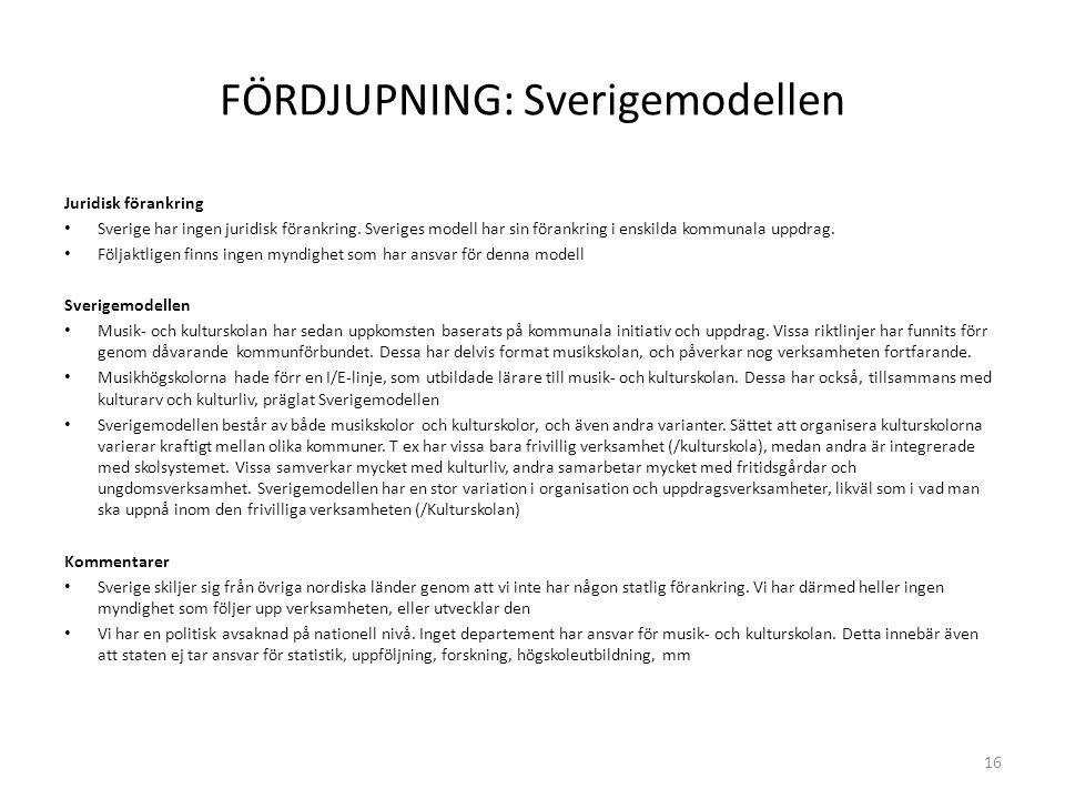 FÖRDJUPNING: Sverigemodellen Juridisk förankring Sverige har ingen juridisk förankring.