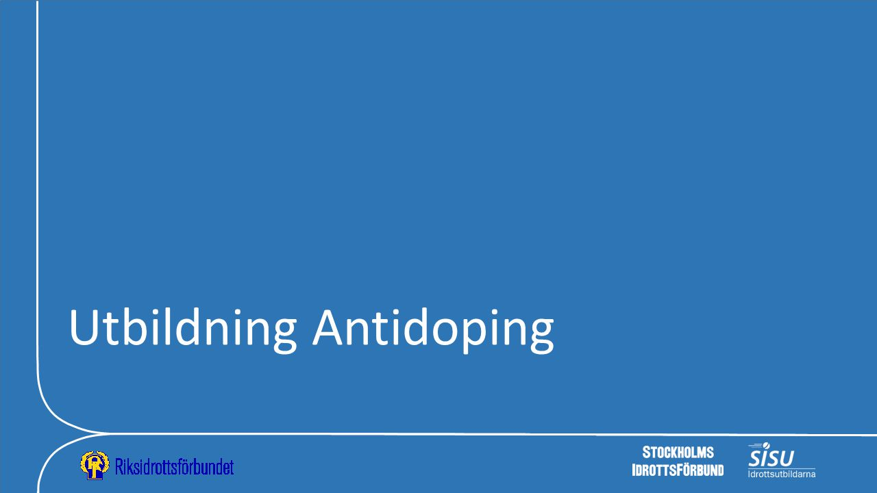 Utbildning Antidoping