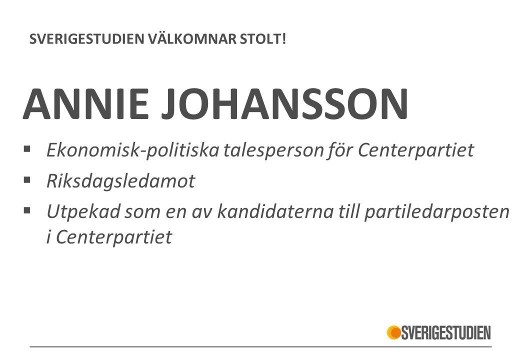 SVERIGESTUDIEN VÄLKOMNAR STOLT.