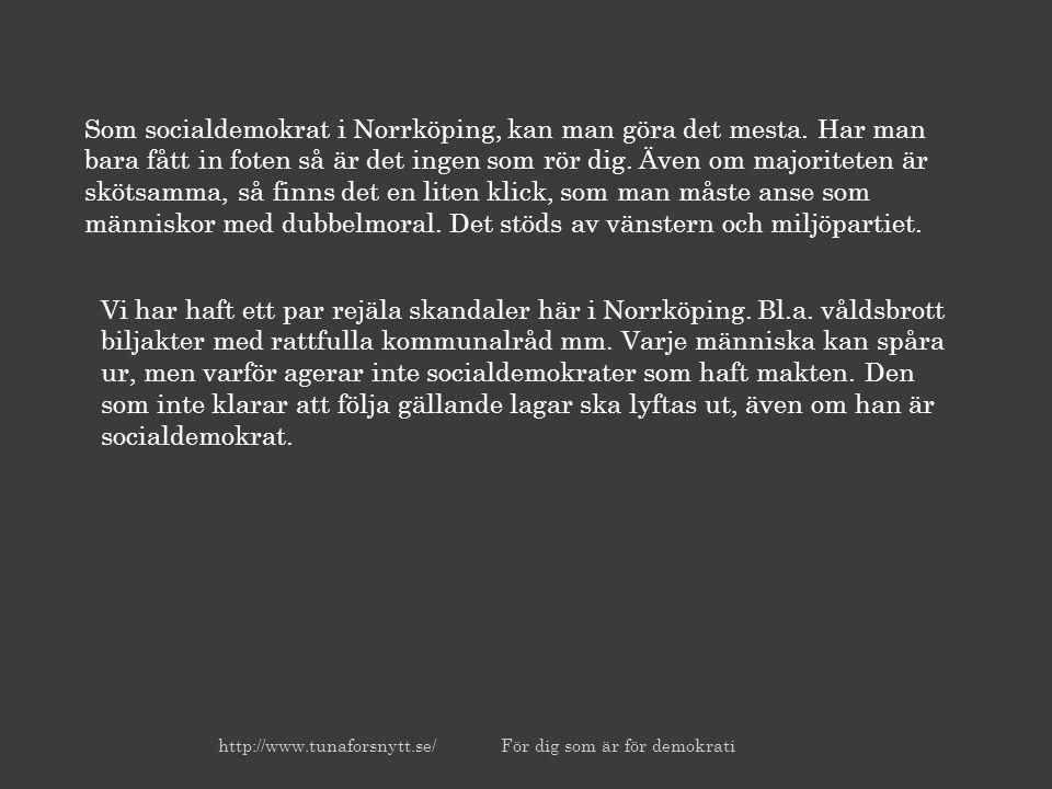 Som socialdemokrat i Norrköping, kan man göra det mesta.