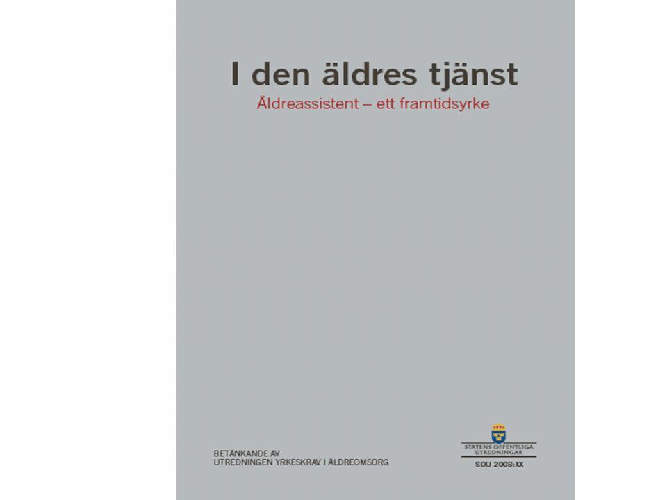 Personal i omsorg och vård för äldre 185 000 undersköterskor och vårdbiträden Utgör 85 procent av personalen i omsorg och vård för äldre 4,4 procent av Sveriges totala arbetskraft Sveriges i särklass största yrkeskår Yrkeskrav i äldreomsorg (S2007:12)