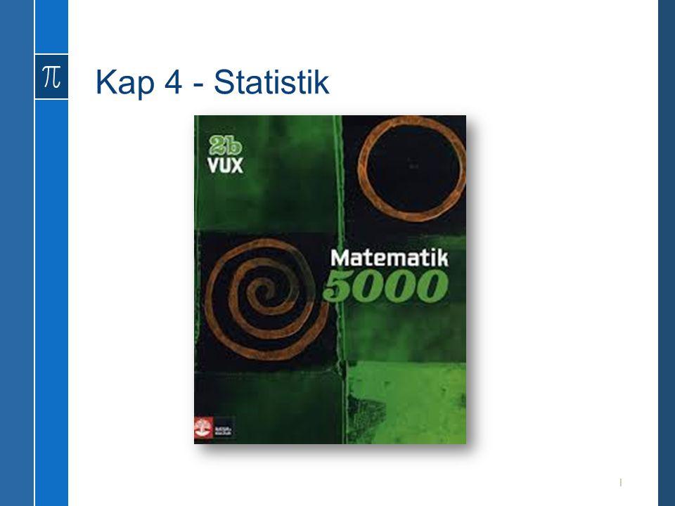 Kap 4 - Statistik 1