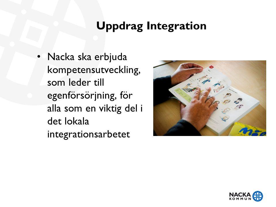 Uppdrag Integration Nacka ska erbjuda kompetensutveckling, som leder till egenförsörjning, för alla som en viktig del i det lokala integrationsarbetet