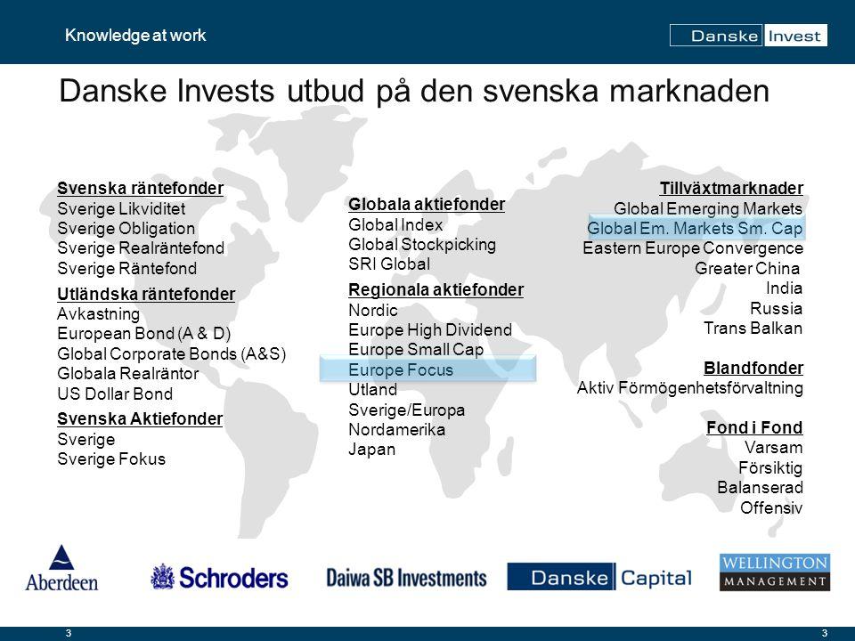 14 Knowledge at work 11-12-2014 Danske Invest Europe Fokus