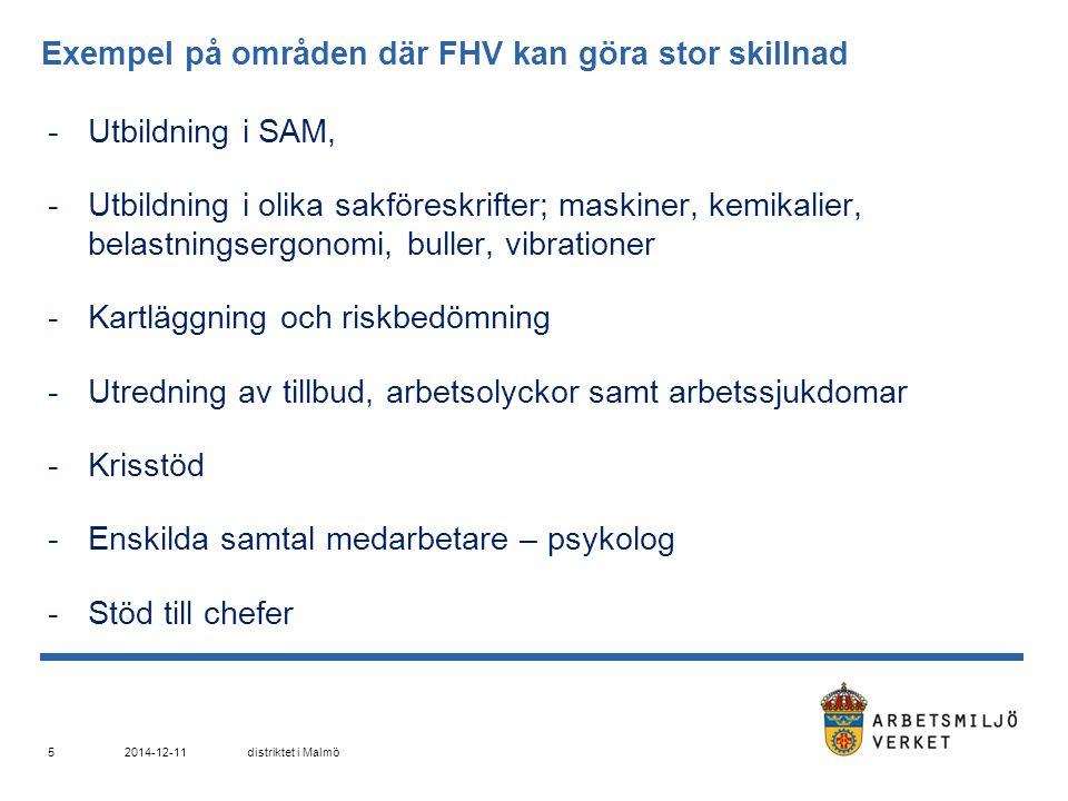 Nationella projekt, vilka avslutas under 2013 Hot och våld inom myndighetsutövning Bemanningsföretag Screening inom den grafiska branschen 2014-12-11distriktet i Malmö 16