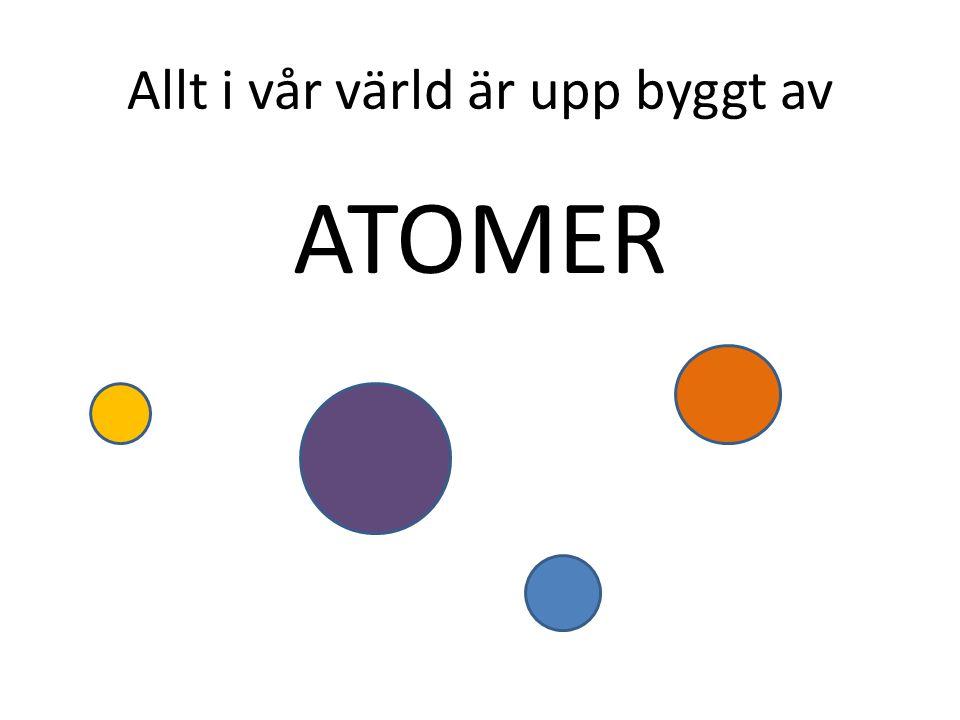 Allt i vår värld är upp byggt av ATOMER