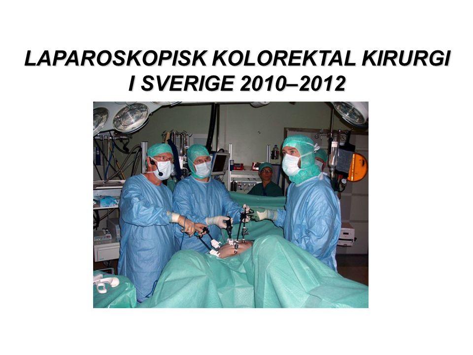 LAPAROSKOPISK KOLOREKTAL KIRURGI I SVERIGE 2010–2012