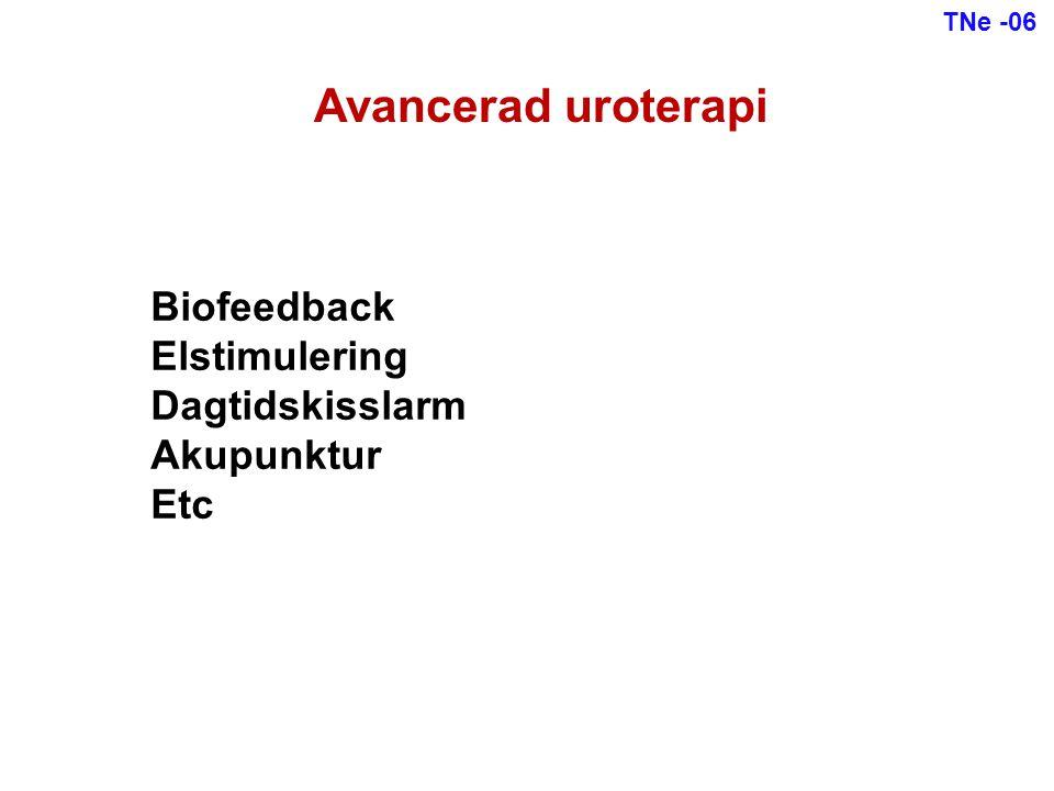 Biofeedback Elstimulering Dagtidskisslarm Akupunktur Etc Avancerad uroterapi TNe -06