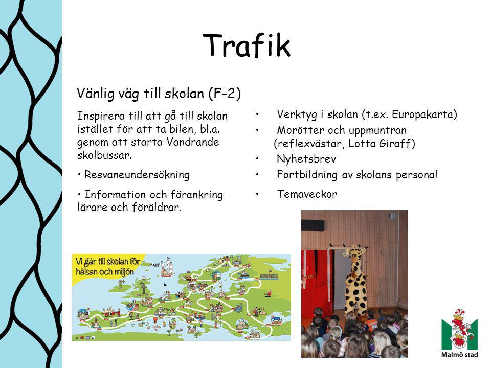 Trafik Vänlig väg till skolan (F-2) Verktyg i skolan (t.ex.