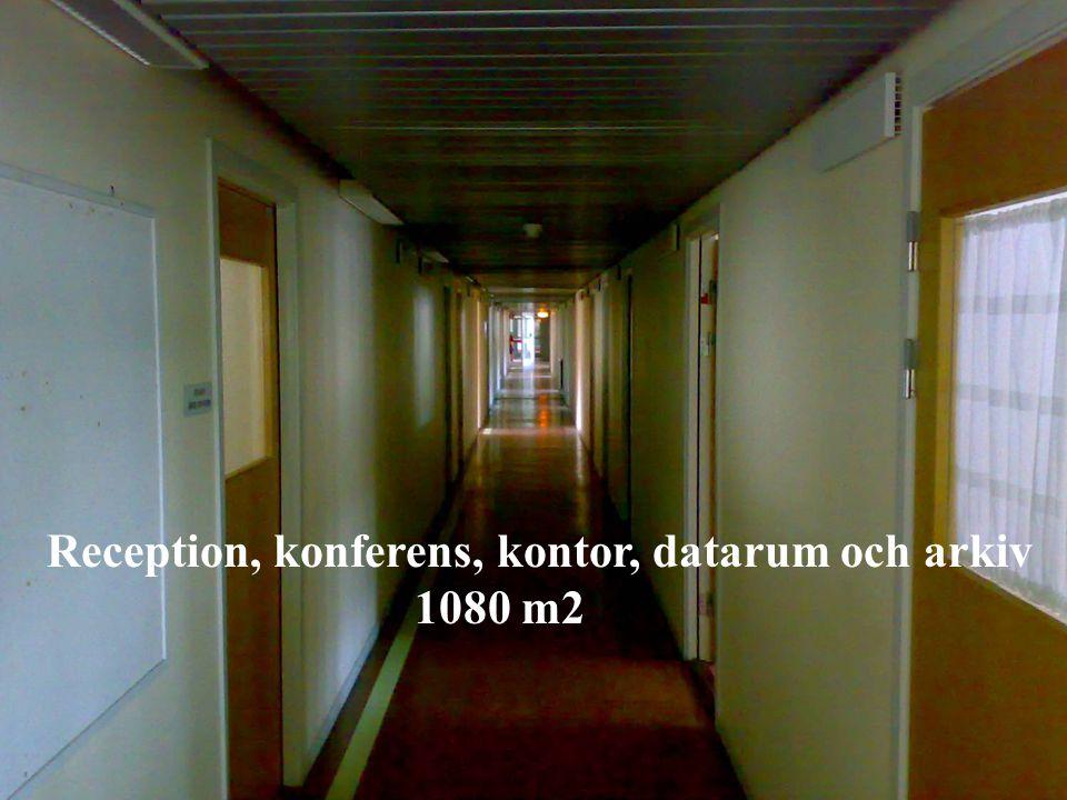 Reception, konferens, kontor, datarum och arkiv 1080 m2