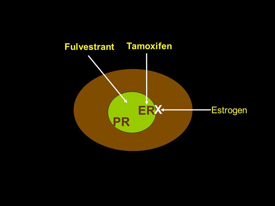9 ER Estrogen Tamoxifen X Fulvestrant PR