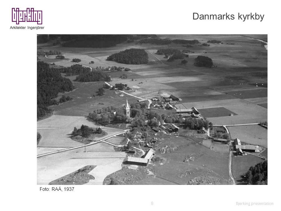 Danmarks kyrkby Bjerking presentation 8 Foto: RAÄ, 1937