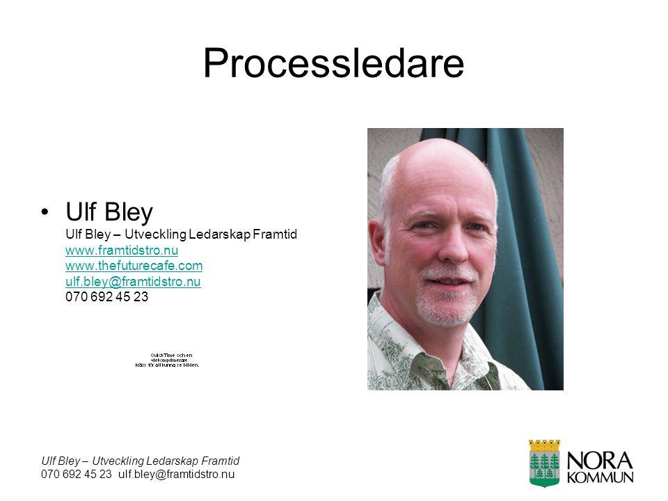 Ulf Bley – Utveckling Ledarskap Framtid 070 692 45 23 ulf.bley@framtidstro.nu Processledare Ulf Bley Ulf Bley – Utveckling Ledarskap Framtid www.framt
