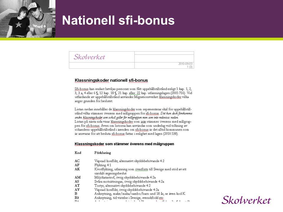 Nationell sfi-bonus