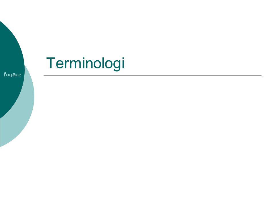 f og a re Terminologi