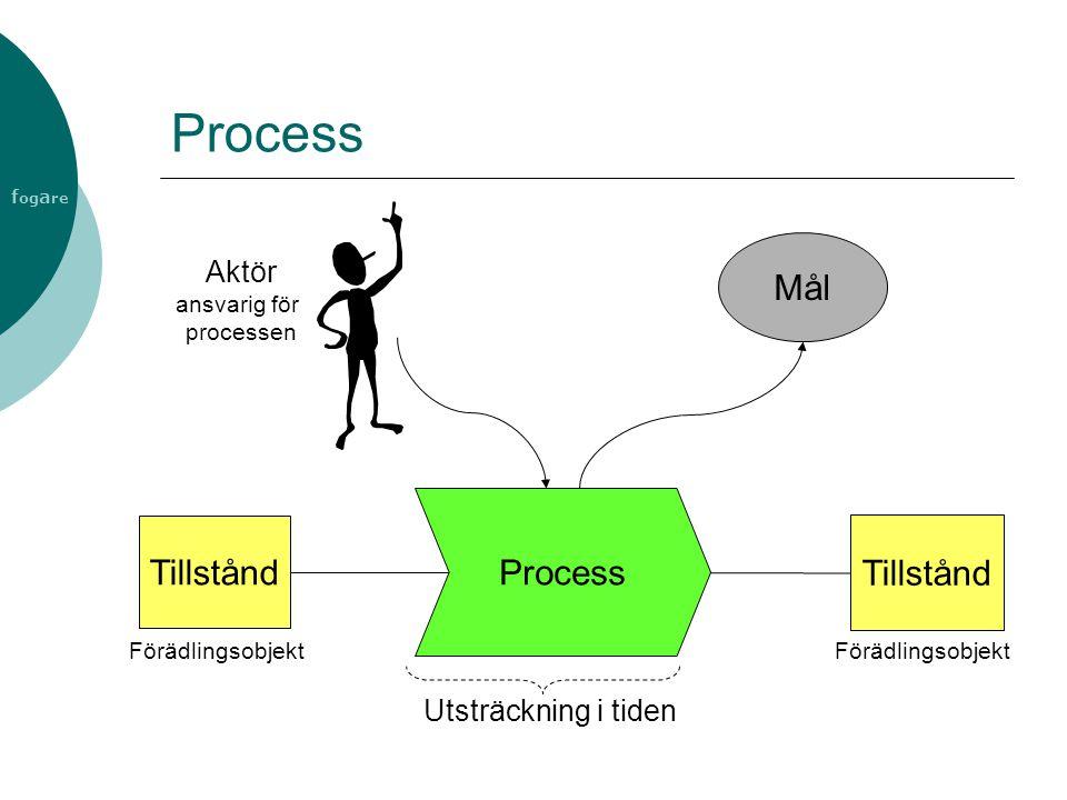 f og a re Process Tillstånd Aktör ansvarig för processen Tillstånd Utsträckning i tiden Mål Förädlingsobjekt