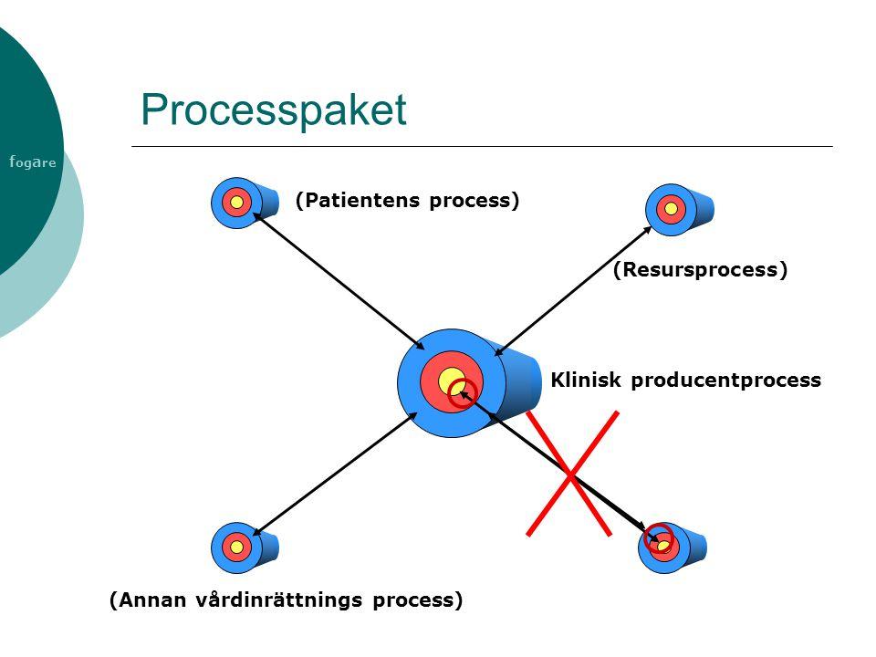 f og a re Processpaket Klinisk producentprocess (Annan vårdinrättnings process) (Patientens process) (Resursprocess)