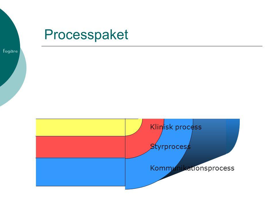 f og a re Processpaket Kommunikationsprocess Styrprocess Klinisk process