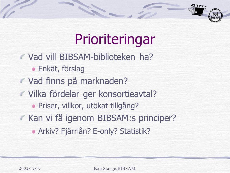 2002-12-19Kari Stange, BIBSAM Aktuellt Inga subventioner 2003.