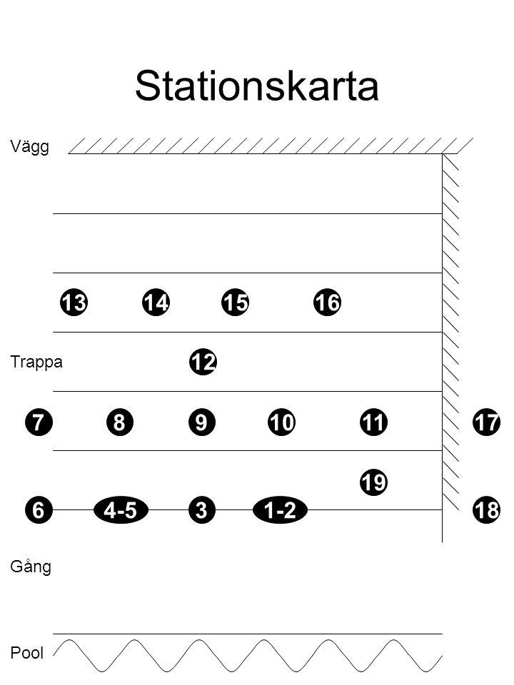 Stationskarta Vägg Trappa Gång Pool 4-53 19 1-2 1110987 16151413 12 17 186