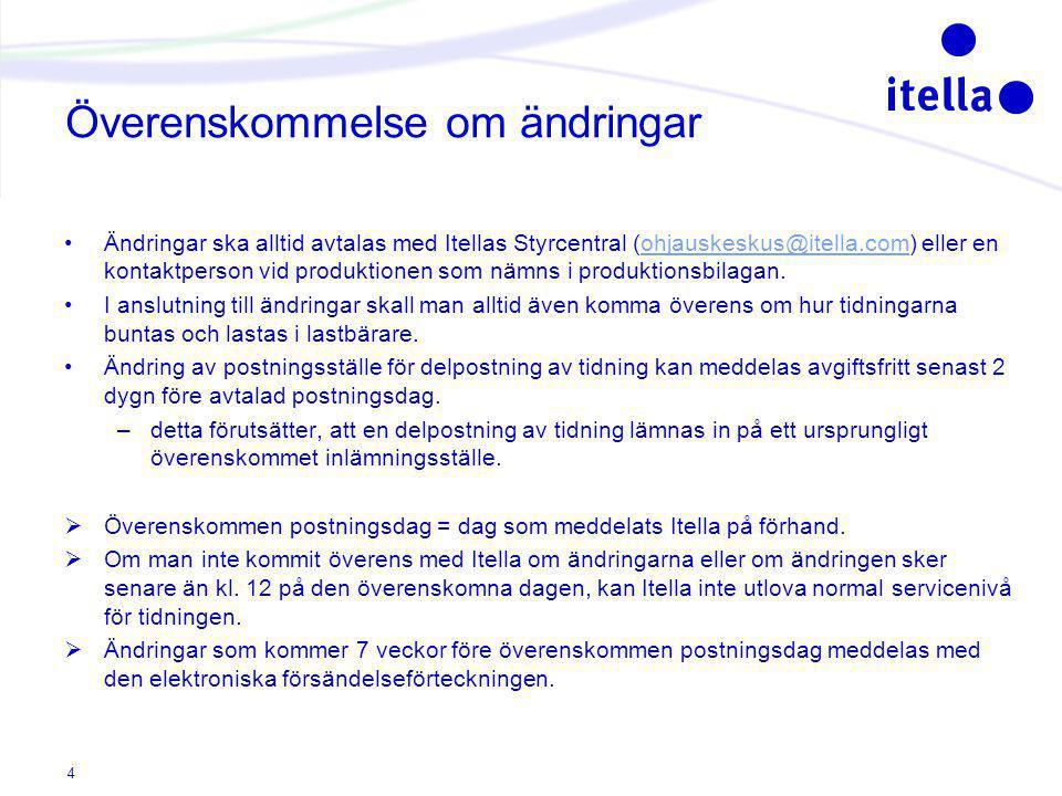 Snabbare transporthastighet, ändring av postning och utdelningsdag - tidtabell och prissättning Ny överensk.