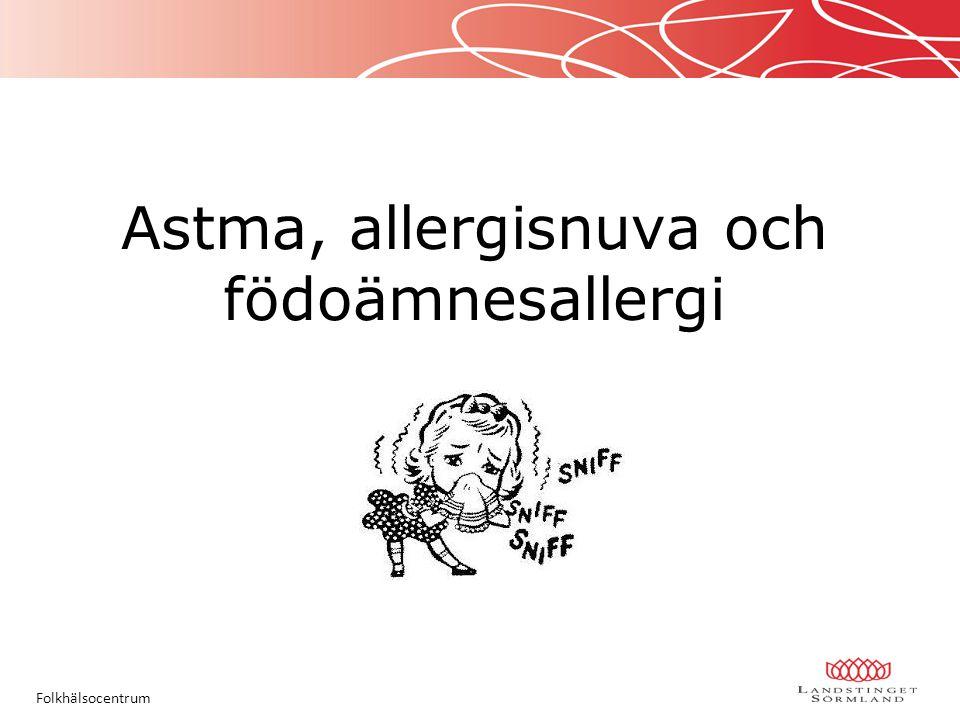 Astma, allergisnuva och födoämnesallergi Folkhälsocentrum