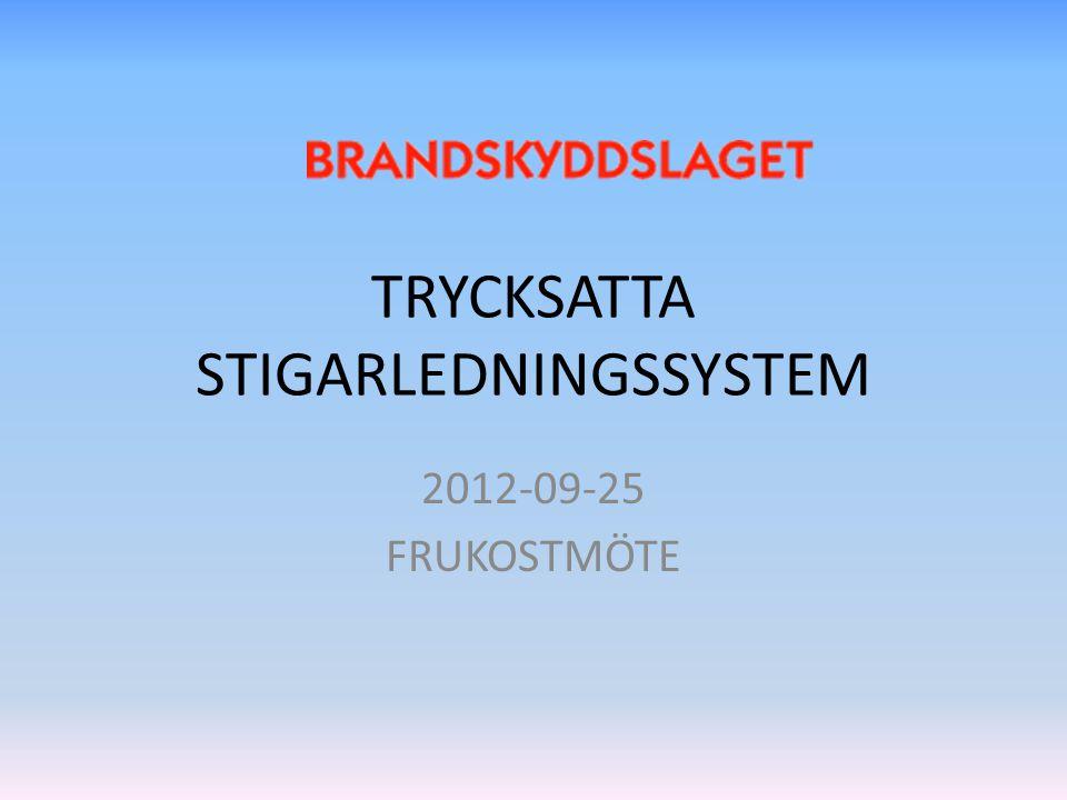 TRYCKSATTA STIGARLEDNINGSSYSTEM 2012-09-25 FRUKOSTMÖTE