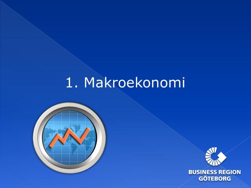 Arbetslösheten i Göteborgsregionen Källa: Arbetsförmedlingen KommunArbetslöshet okt-12Förändring på ett års sikt Tjörn3,5%0,1 Lerum3,6%0,1 Kungälv3,9%0,1 Öckerö4,1%0,1 Stenungsund4,3%-0,3 Härryda4,6%0,2 Kungsbacka4,7%0,2 Mölndal5,1%-0,3 Partille5,6%-0,1 Ale6,0%-0,2 Alingsås7,4%0,7 Lilla Edet8,0%0,7 Göteborg9,5%0,3 Snitt GR7,5%0,2 Snitt Sverige8,6%0,3 259 personer