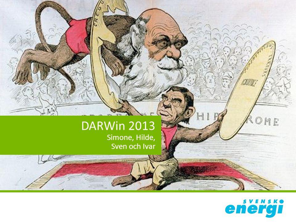 2013 – Simone, Hilde, Sven och Ivar 80 elnätsföretag lämnade data (sämre än tidigare år…) 83% av kundunderlaget ingår Leveranssäkerheten var 99,97% 2014-08-18 DARWin 20132