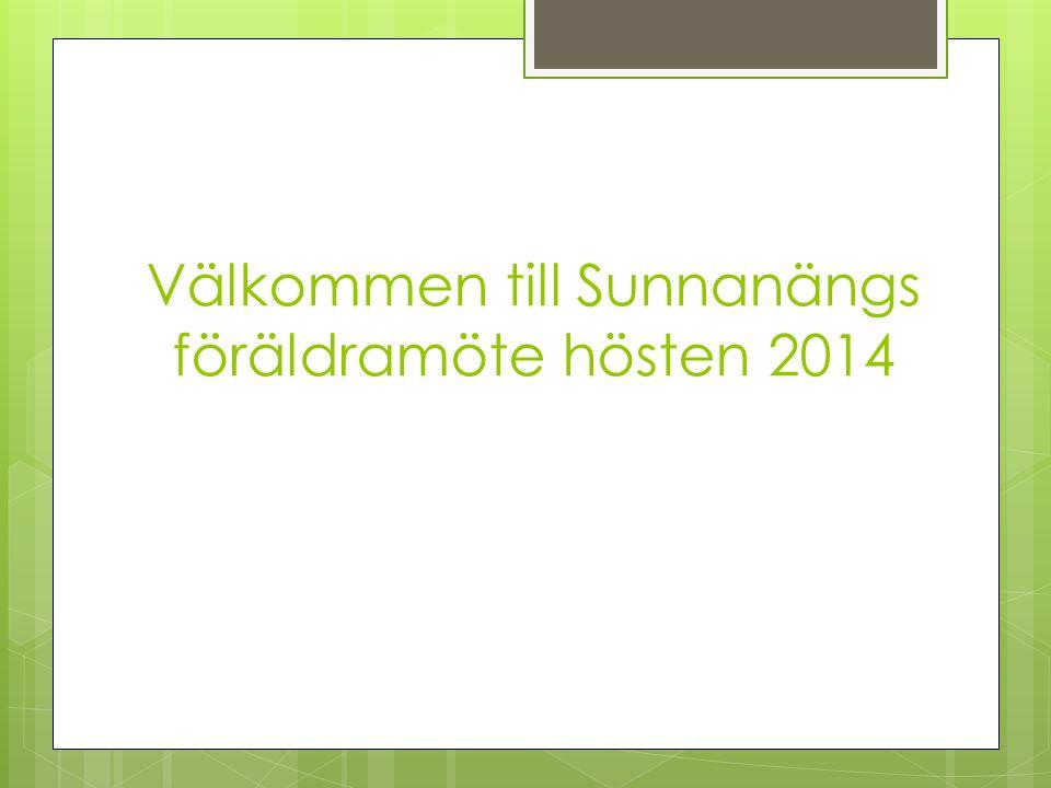 Välkommen till Sunnanängs föräldramöte hösten 2014