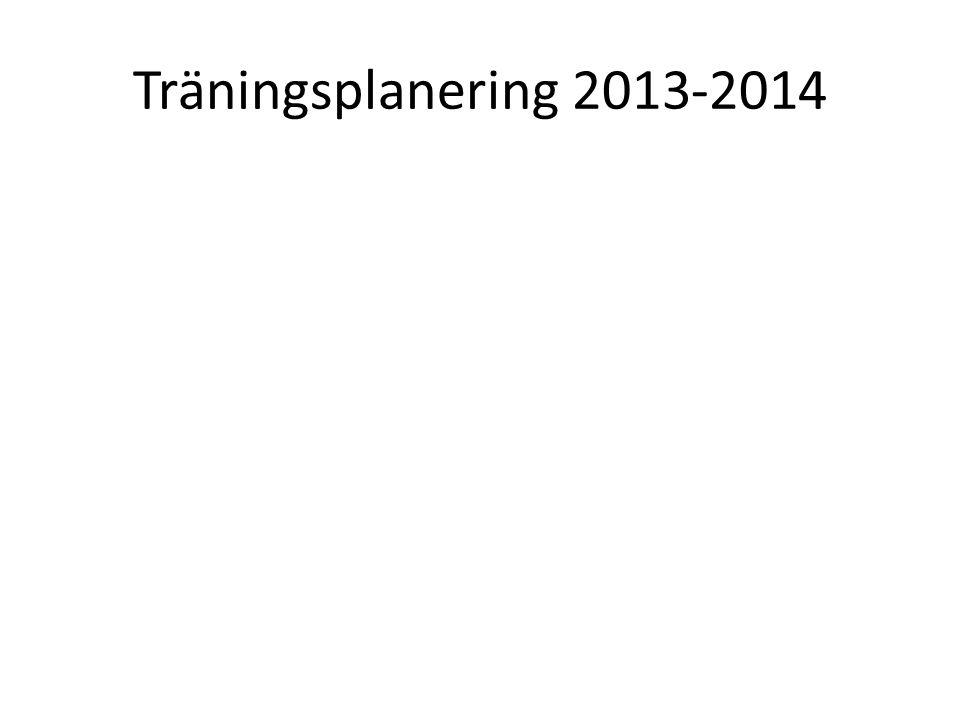 Träningsplanering 2013-2014