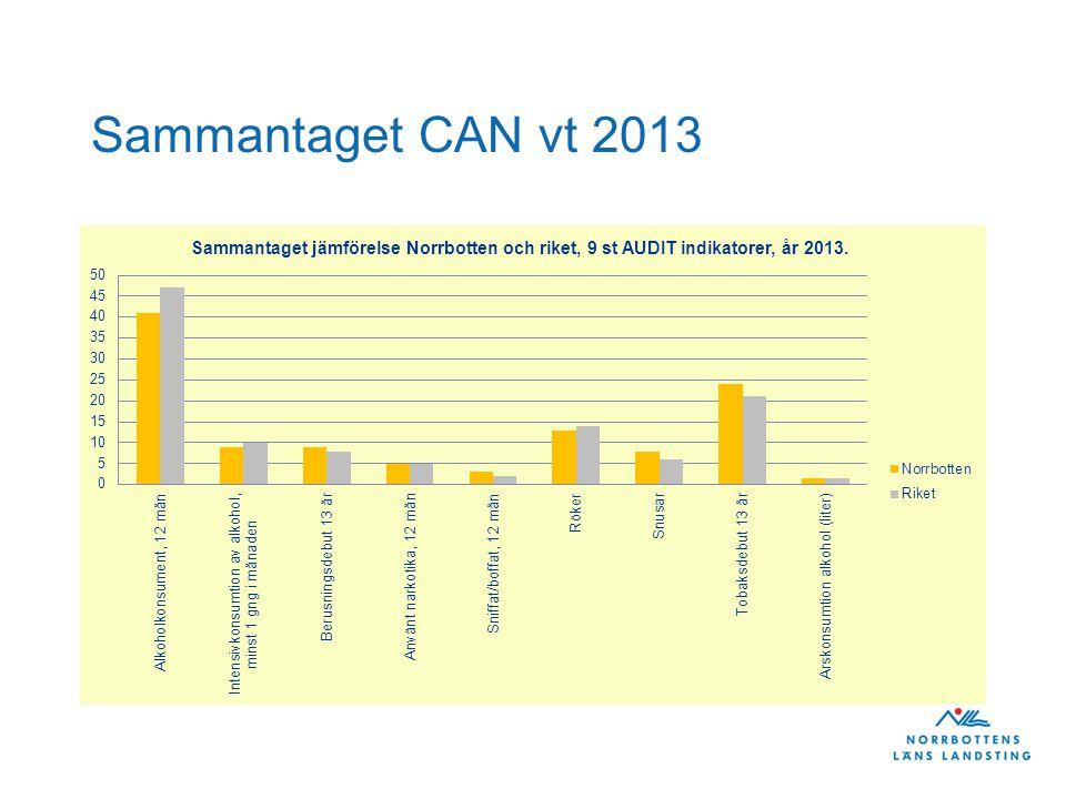 Sammantaget CAN vt 2013